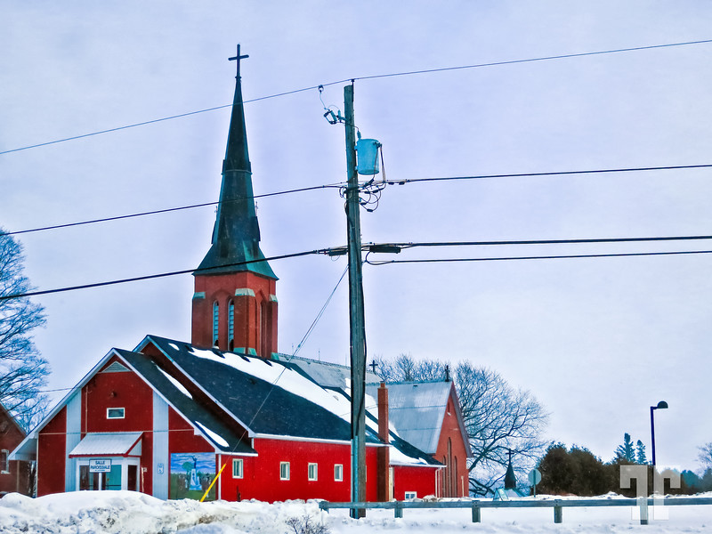 red-church-Lafontaine-Ontario