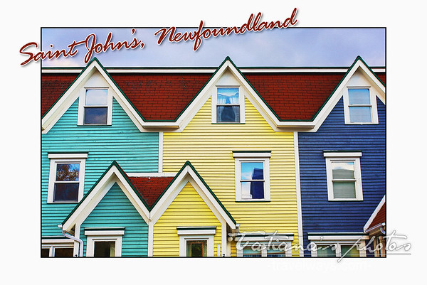 Colorful houses in Saint John's, Newfoundland