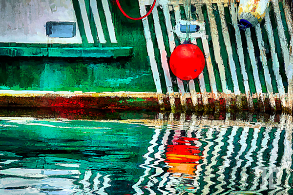 Boat close-up in St.John's Newfoundland,