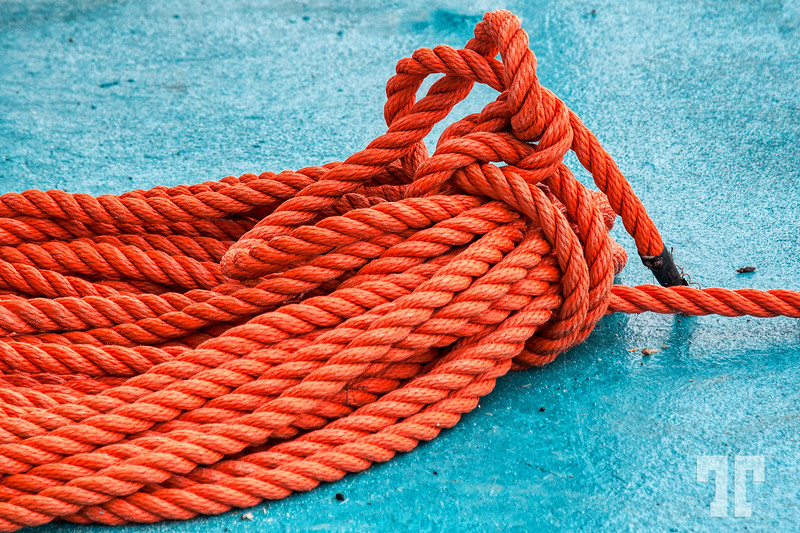 Color contrast Fishing rope