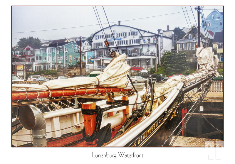 Lunenburg waterfront in a foggy day  See unframed version here: http://www.travelways.com/PicturesofCanada/Pictures-of-Nova-Scotia/Canada-Lunenburg-NS/23203352_Rp6MHv#!i=2340076335&k=JWGgDFJ