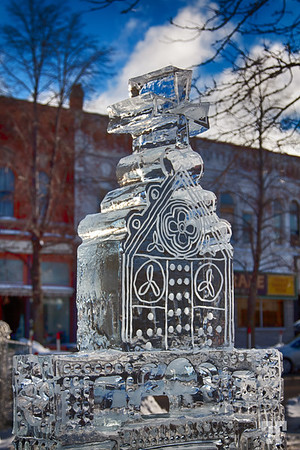 Ice sculpture in Collingwood, ON  Happy New Year's Eve!