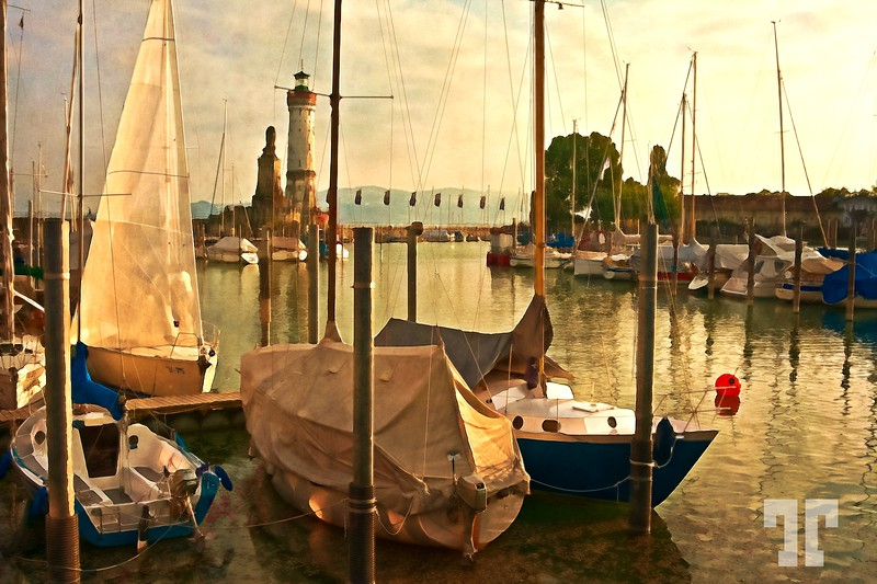 marina-lindau-harbor-digital-paint