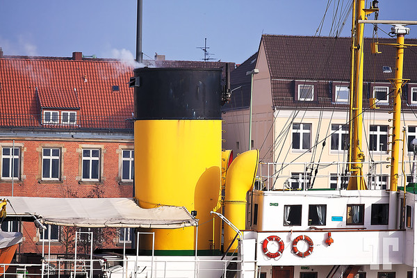 House boat in Bremerhaven Harbor, Germany