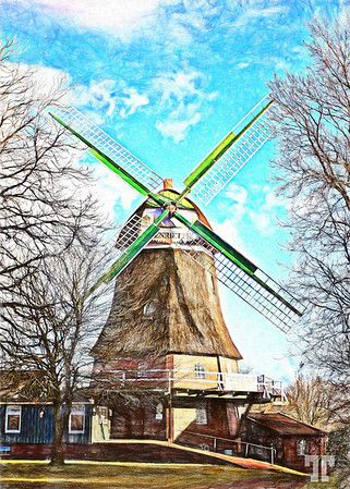 Classic-windmill-germany-ColoredPencil