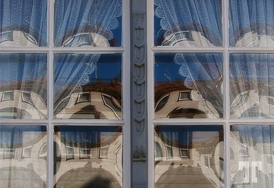 Window reflections, Nonnenhorn, Germany