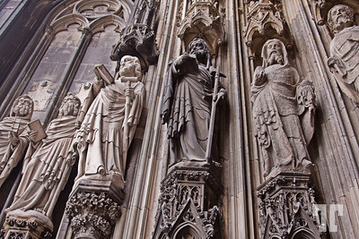 Stone statues at Koln Cathedral, Germany