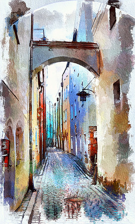 Passau-narrow-passage-street