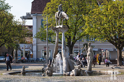 Water fountain in Uberlingen, on Lake Constance (Bodensee)