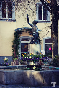 - Statue in a small plaza in Uberlingen, on Lake Constance (bodensee)