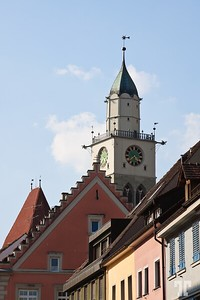 Clock tower in Überlingen, Germany