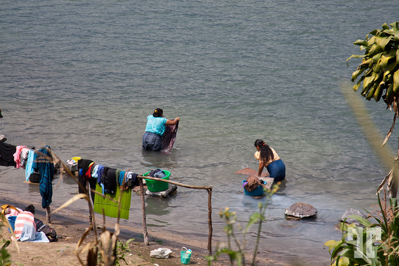 Washing clothes - Lake Atitlán, Guatemala