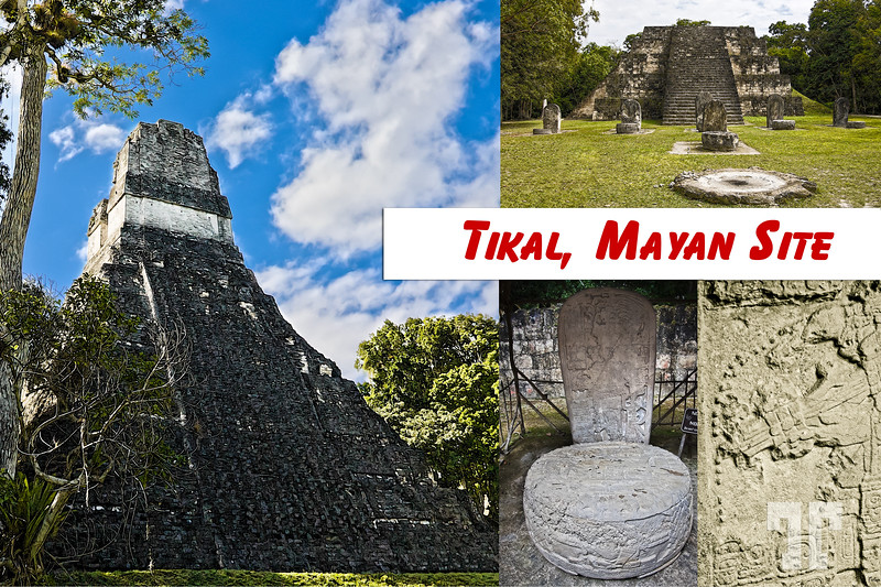 Tikal - one of the largest archaeological sites and urban centres of the pre-Columbian Maya civilization Tikal Mayan Ruins Guatemala