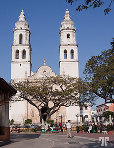 Cathedral  in Campeche, Mexico