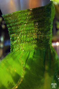 17 March 2010  Green party dress Mexico, Yucatan