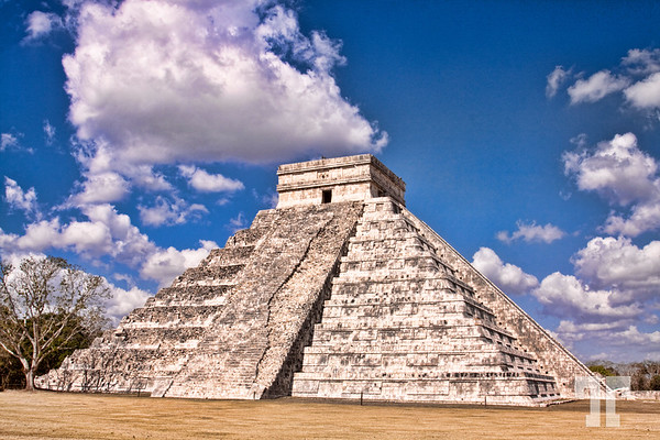 "Chichen Itza - Temple of Kukulkan (the Maya name for Quetzalcoatl), often referred to as ""El Castillo"" (the castle). Chichen Itza Mexico, Yucatan"