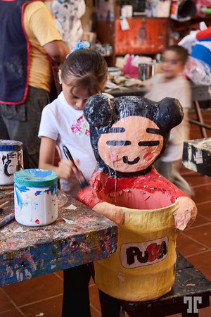Young artists - Kids art school, Coba Mexico