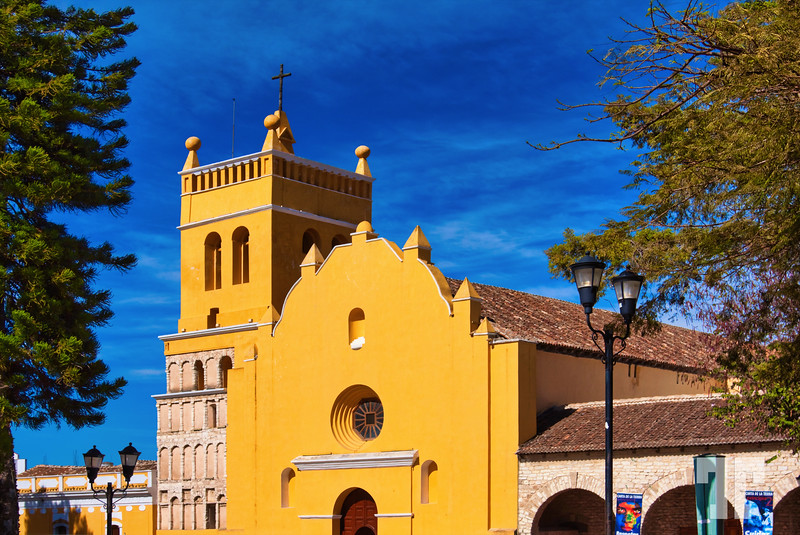Yellow Mexican church