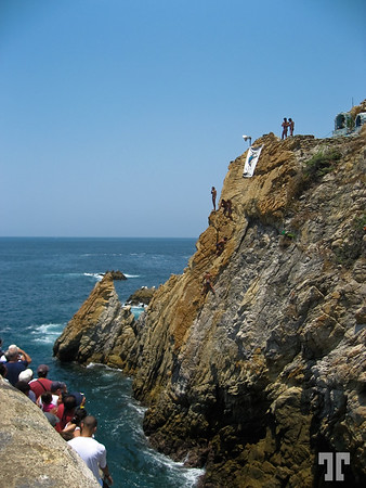 "The famous ""La Quebrada"" divers rock-14"