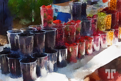 Fresh berries at the market