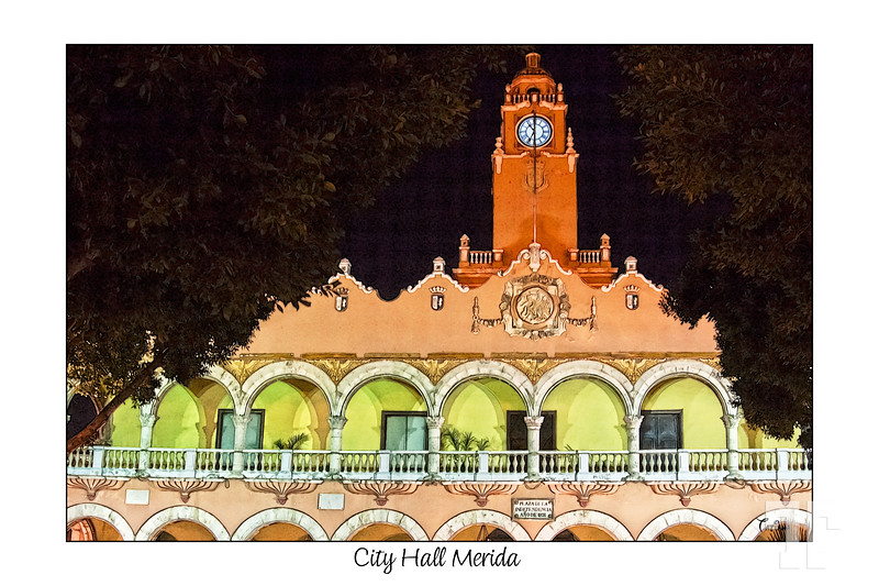 Posted: May 27, 2012<br /> <br /> City Hall Merida, building<br /> <br /> I gave up with the new gallery of posters from Mexico, because it does'n work - almost no comments at all - so I moved the pictures back to  my regular dailies gallery :)<br /> - I actually lost the photo from yesterday on the move...hmm - it's probably not a big deal since it didn't bring too much enthusiasm among the daily audience...