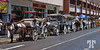 April 5, 2010<br /> <br /> Line of horses and chariots waiting in the hot sun for clients, in Merida, Mexico Mexico, Yucatan