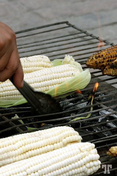 Mexico City Grilling corn