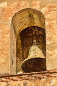 church-bell-guadalupe-etla-oaxaca-mexico-colored-pencil
