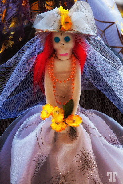 Bride Catrina doll in Patzcuaro, Mexico - at the Day of the Death celebration