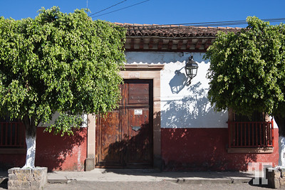 street-building-door-patzcuaro-mexico