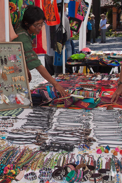 Local artisans at Valle Escondido, during the Jazz Festival in Boquete, Panama