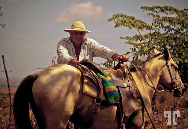 Man and horse in Panama