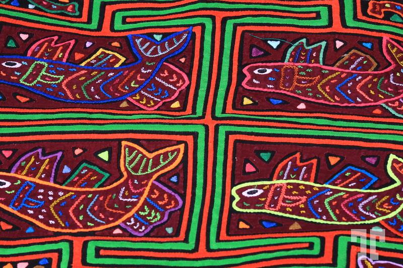 Mola crafts made by Kuna Yala people of Panama