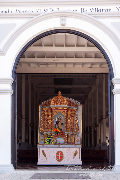 Church entrance - Los Santos, Panama