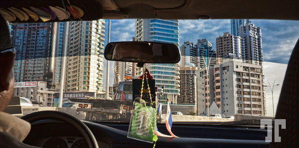 Taxi ride in Panama City