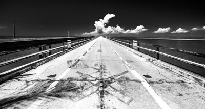 Old 7 mile bridge, Florida Keys.
