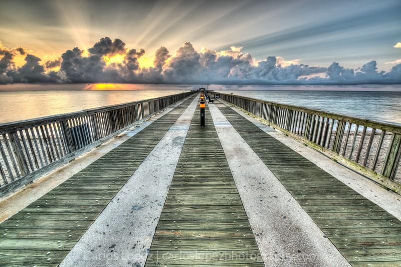 Sunrise in Pompano Pier