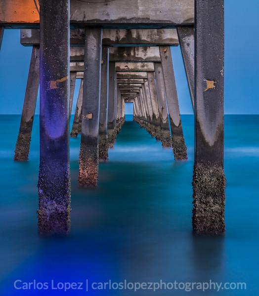 Night at Dania Pier, take 3