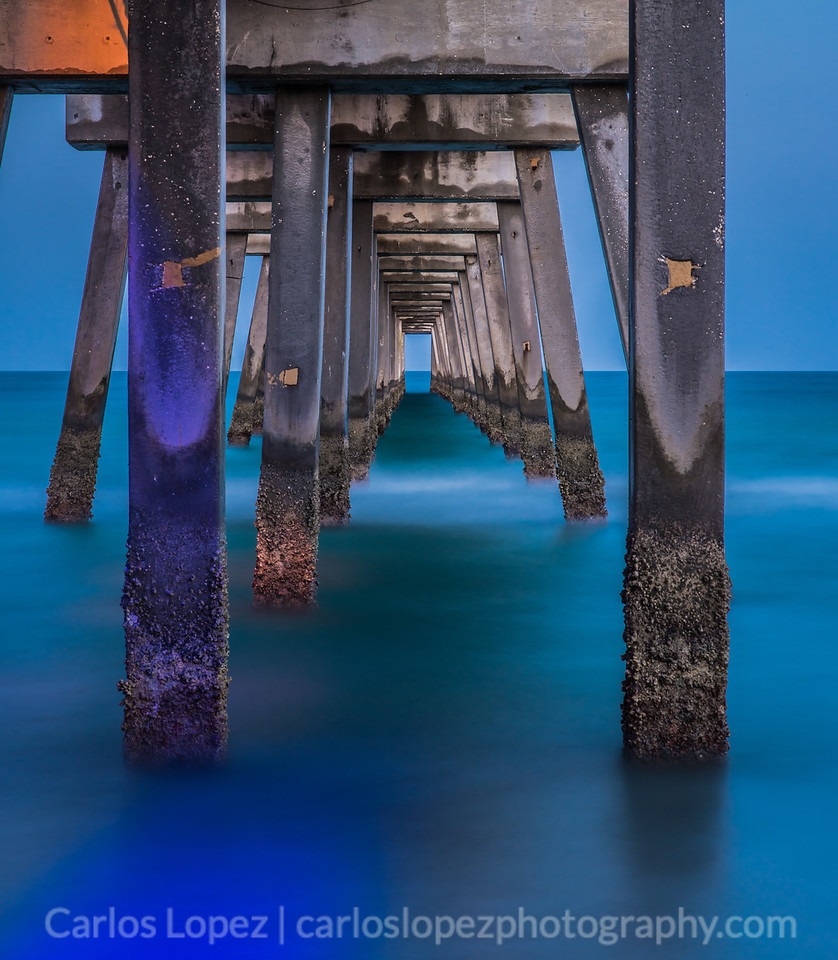 Night at Dania Pier, take 3