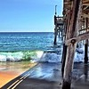 Crashing the pier (Newport Beach)