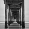 Under Scripps Pier 2 - Monochrome