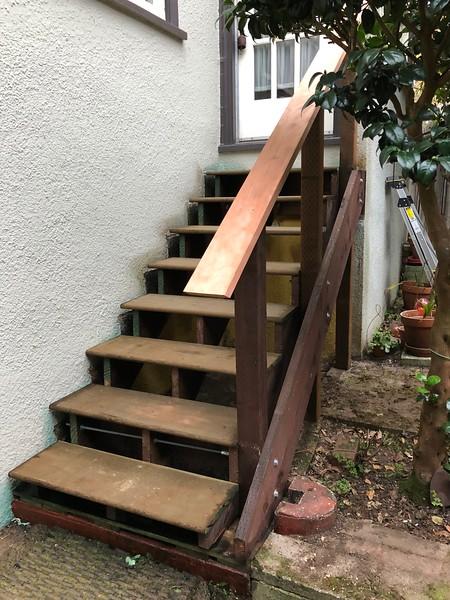 Rebuilt back staircase
