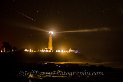 Shooting Star over Pigeon Point