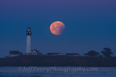 Lunar eclipse over Pigeon Point