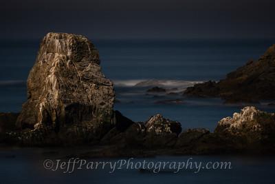 Prisoner's Rock by Moonlight