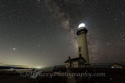 August 1st, 2021 Pigeon Point Lighthouse at night