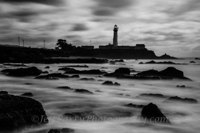 Pigeon Point Reefs  Black and White 1 minute exposure Lee Big Stopper 10 stop filter. ISO 50 f/27