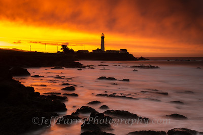 Pigeon Point sunrise king tide