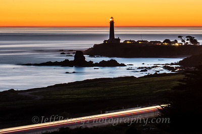 Traffic Lights at Pigeon Point.  2 minute long exposure Nikon D600, Nikkor ED 70-180mm at 100mm, ISO 50, f/38, Satechi remote intervelometer