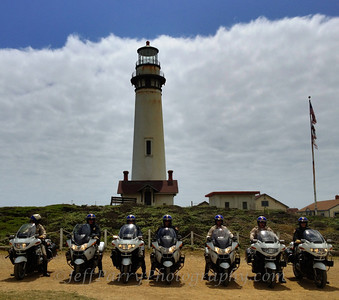 California Highway Patrol visit Pigeon Point Lighthouse